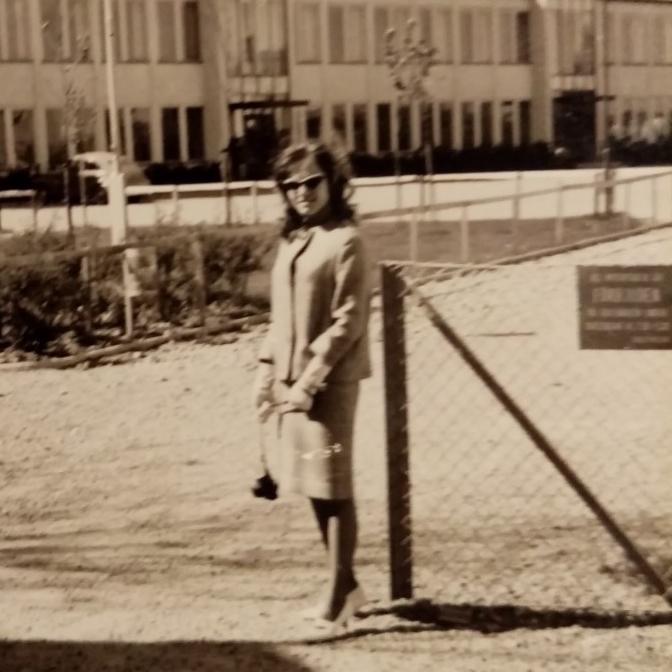 Utanför Centralskolan i Arboga