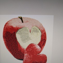 Äpple med hjärta